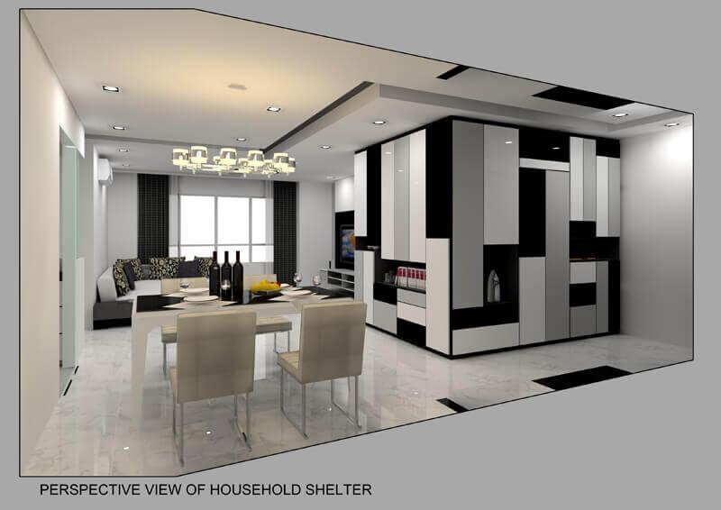The pinnacle laurus design pte ltd for Household shelter design