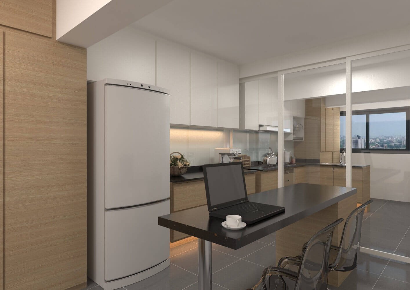 3 room hdb laurus design pte ltd Kitchen design in hdb