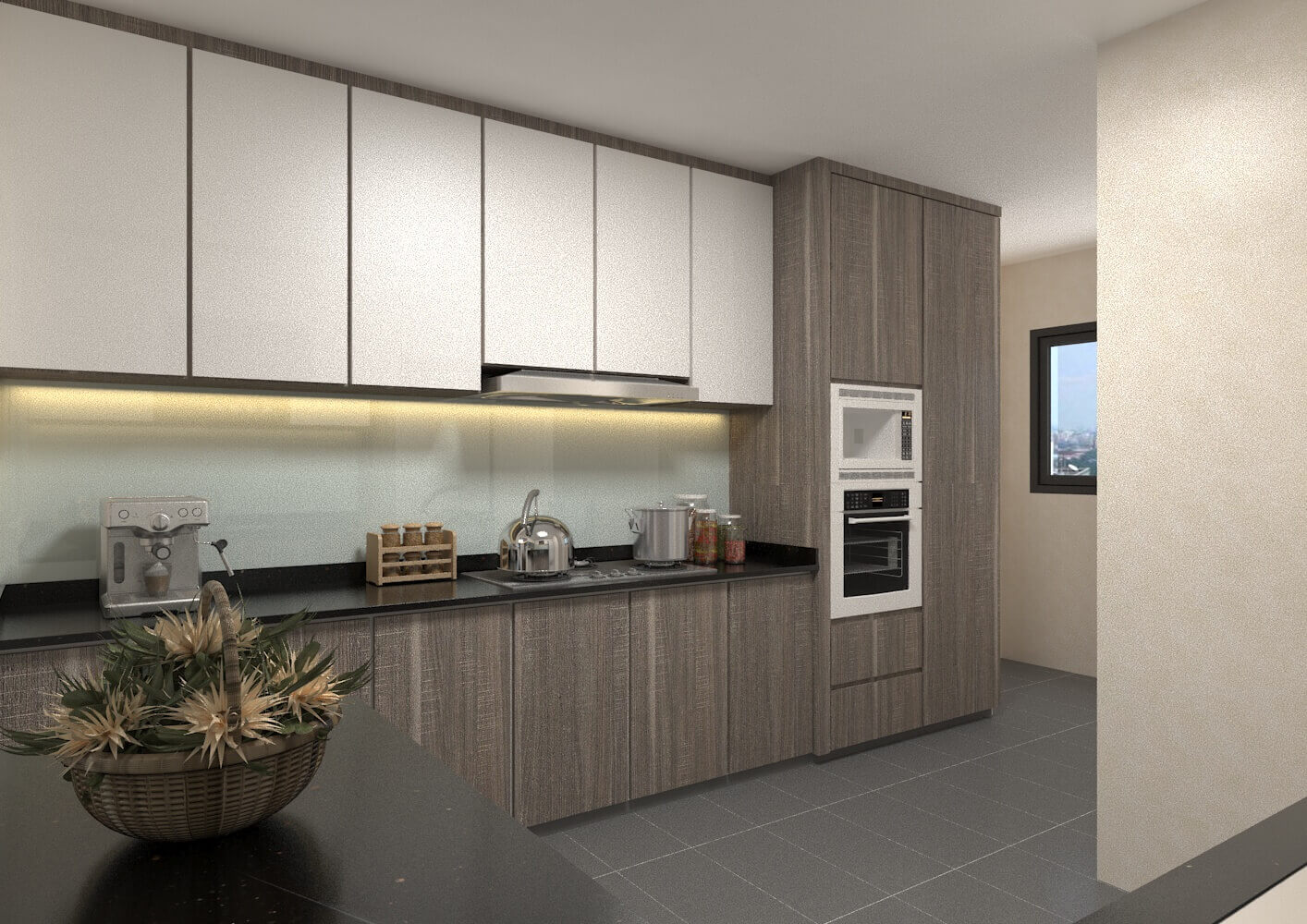 Hdb 4 room kitchen design for Four room flat design