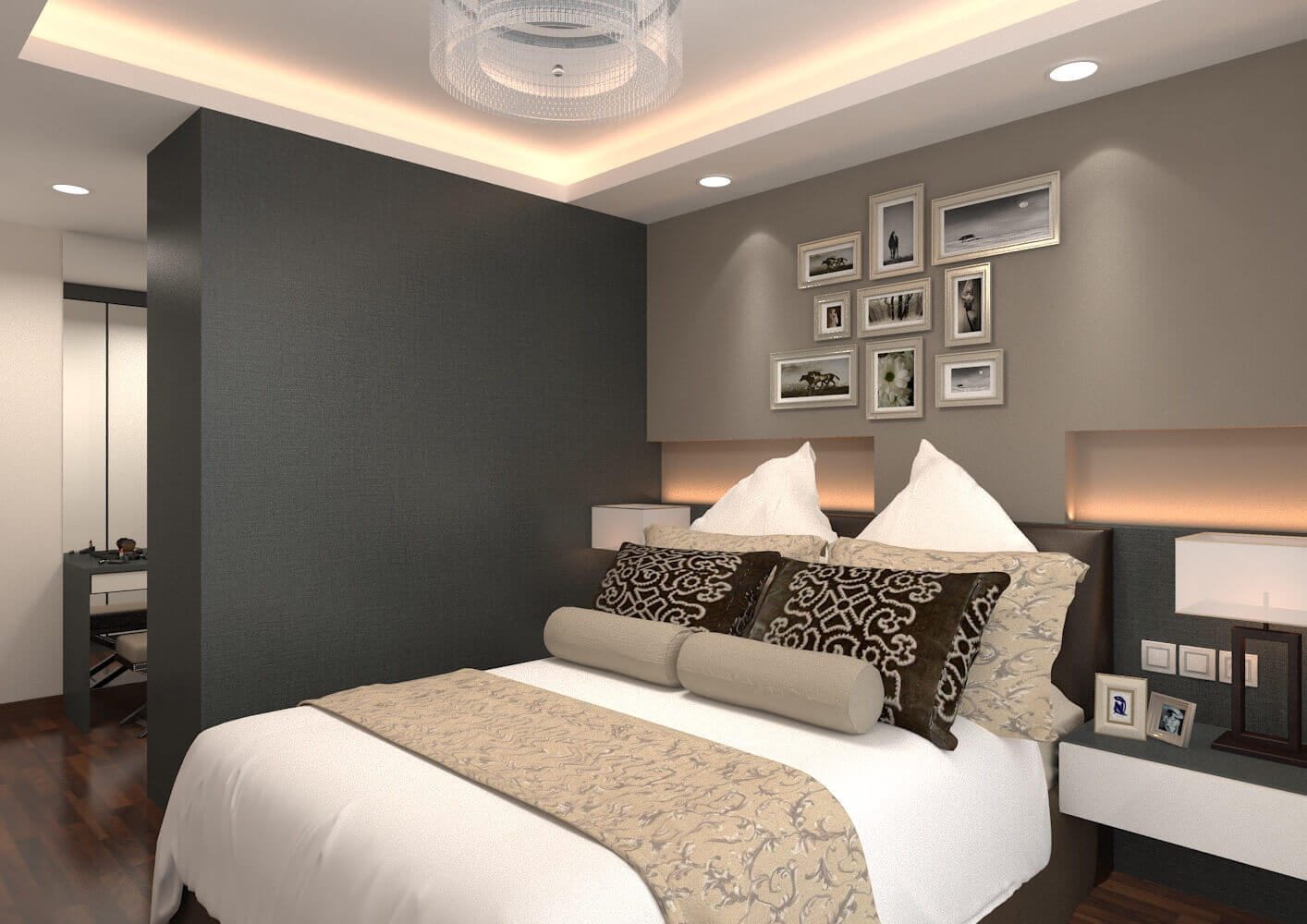 3 room hdb laurus design pte ltd for Main bedroom designs pictures